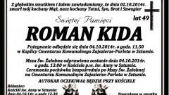 ZMARŁ ROMAN KIDA. ŻYŁ 49 LAT.