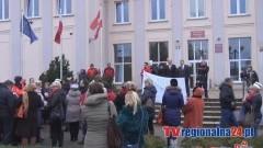 PIKIETA PRACOWNIKÓW SZTUMSKIEGO SZPITALA- 12.01.2015