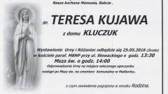Zmarła Teresa Kujawa. Żyła 69 lat.