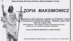 Zmarła Zofia Maksimowicz. Żyła 90 lat.