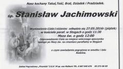Zmarł Stanisław Jachimowski. Żył 80 lat.