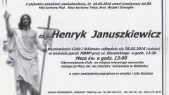 Zmarł Henryk Januszkiewicz. Żył 80 lat.