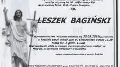Zmarł Leszek Bagiński. Żył 60 lat.