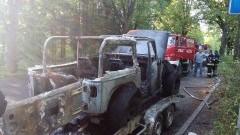 Pożar samochodu na lawecie. Weekendowy raport sztumskich służb mundurowych – 30.05.2016