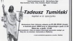 Zmarł Tadeusz Tumiński. Żył 69 lat.
