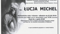Zmarła Łucja Michel. Żyła 90 lat.