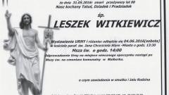Zmarł Leszek Witkiewicz. Żył 88 lat.
