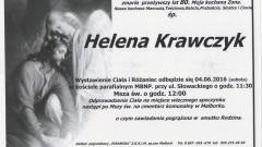 Zmarła Helena Krawczyk. Żyła 80 lat.