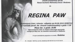 Zmarła Regina Paw. Żyła 83 lata.