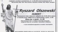 Zmarł Ryszard Olszewski. Żył 71 lat.