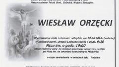 Zmarł Wiesław Orzęcki. Żył 66 lat.