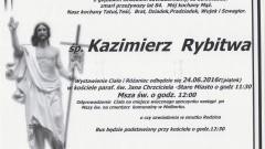 Zmarł Kazimierz Rybitwa. Żył 84 lata.