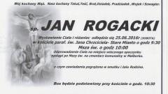 Zmarł Jan Rogacki. Żył 76 lat.