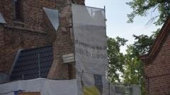 Prace konserwatorskie w kościele pw. św Anny w Sztumie. Na fasadzie już niedługo średniowieczny herb miasta – 29.06.2016
