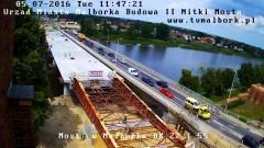Most coraz bliżej brzegu, jednak koniec prac dopiero 30 czerwca 2017? Raport z budowy II nitki mostu w Malborku – 05.07.2016