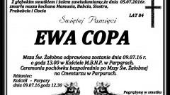 Zmarła Ewa Copa. Żyła 84 lata.