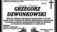 Zmarł Grzegorz Dzwonkowski. Żył 37 lat.