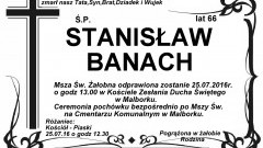 Zmarł Stanisław Banach. żył 66 lat