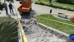 Nowe schody do bulwaru na osiedlu Sierakowskich w Sztumie – 25.07.2016