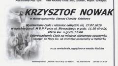 Zmarł Krzysztof Nowak. Żył 57 lat