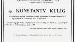 Zmarł Konstanty Kulig