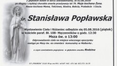 Zmarła Stanisława Popławska. Żyła 79 lat.