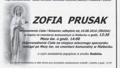 Zmarła Zofia Prusak. Żyła 88 lat.