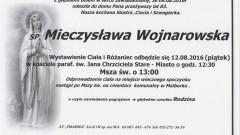 Zmarła Mieczysława Wojnarowska. Żyła 83 lata.