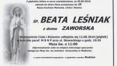 Zmarła Beata Leśniak. Żyła 29 lat.