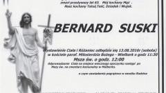 Zmarł Bernard Suski. Żył 63 lata.
