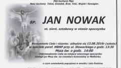 Zmarł Jan Nowak. Żył 71 lat.
