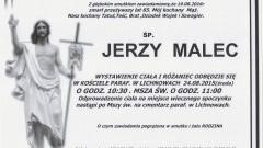 Zmarł Jerzy Malec. Żył 65 lat.