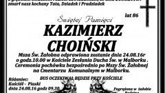 Zmarł Kazimierz Choiński. Żył 86 lat.