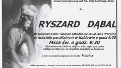 Zmarł Ryszard Dąbal. Żył 61 lat.