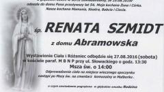 Zmarła Renata Szmidt. Żyła 54 lata.