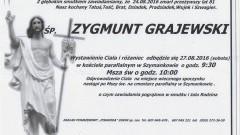 Zmarł Zygmunt Grajewski. Żył 81 lat.