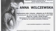 Zmarła Anna Wilczewska. Żyła 81 lat.