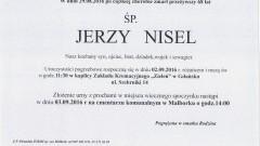 Zmarł Jerzy Nisel. Żył 68 lat.