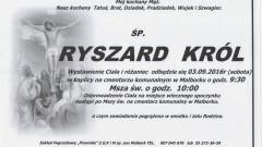 Zmarł Ryszard Król. Żył 74 lata.