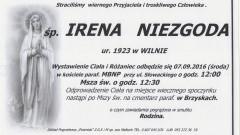 Zmarła Irena Niezgoda. Żyła 93 lata.