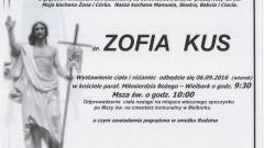 Zmarła Zofia Kus. Żyła 58 lat.