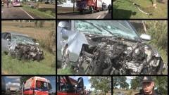 """Wyprzedzał """"na trzeciego"""" i spowodował wypadek w Tragaminie. 23-letni kierowca audi z obrażeniami ciała trafił do szpitala – 06.09.2016"""