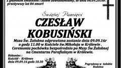 Zmarł Czesław Kobusiński. Żył 84 lata.