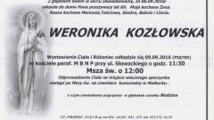 Zmarła Weronika Kozłowska. Żyła 69 lat.