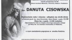 Zmarła Danuta Cisowska. Żyła 85 lat.