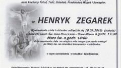 Zmarł Henryk Zegarek. Żył 90 lat.