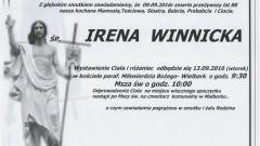 Zmarła Irena Winnicka. Żyła 88 lat.
