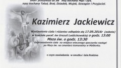 Zmarł Kazimierz Jackiewicz. Żył 56 lat.