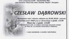 Zmarł Czesław Dąbrowski. Żył 87 lat.