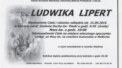 Zmarła Ludwika Lipert. Żyła 91 lat.